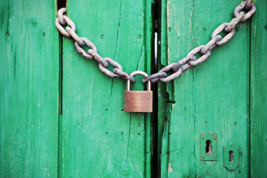 Virtual lock and key